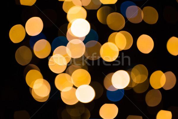 Zamazany złoty światła ciemne wakacje luksusowe Zdjęcia stock © dolgachov