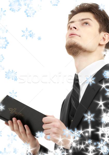 Hombre Biblia Foto lectura Foto stock © dolgachov