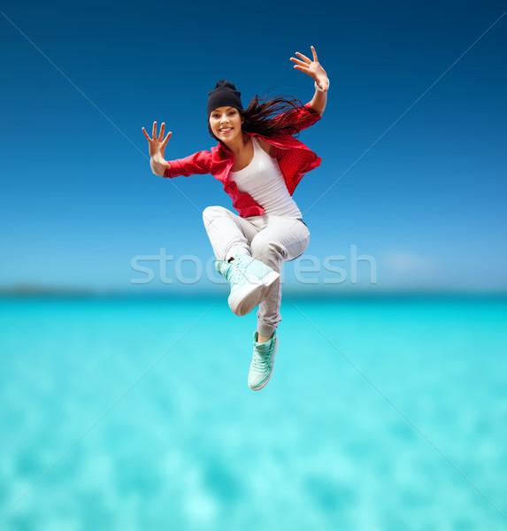 美しい ダンス 少女 ジャンプ スポーツ 都市 ストックフォト © dolgachov