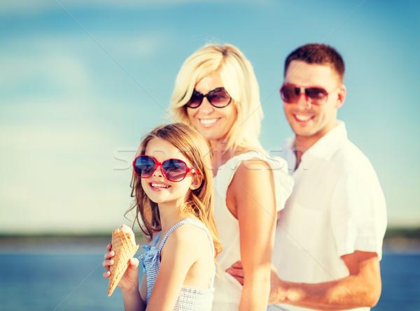happy family eating ice cream Stock photo © dolgachov