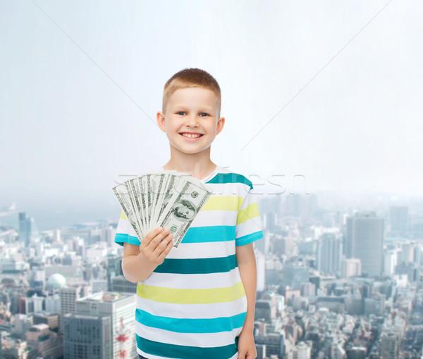 笑みを浮かべて 少年 ドル 現金 お金 ストックフォト © dolgachov