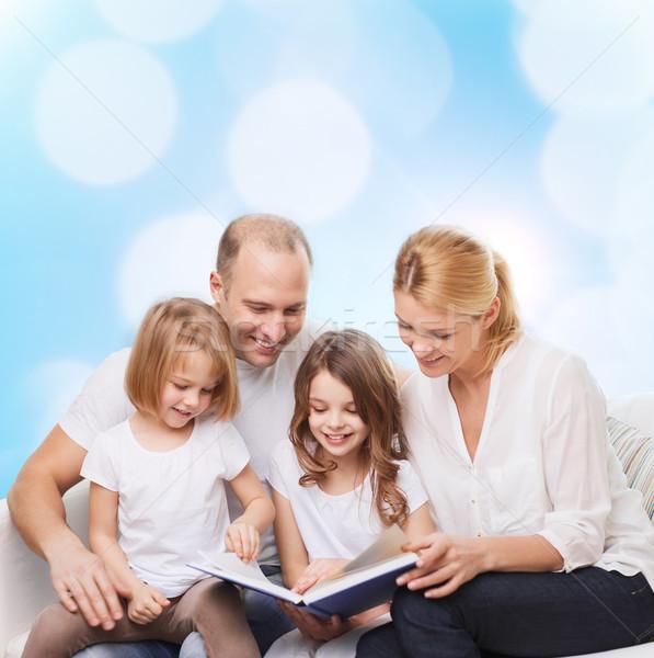 счастливая семья книга домой семьи детство праздников Сток-фото © dolgachov