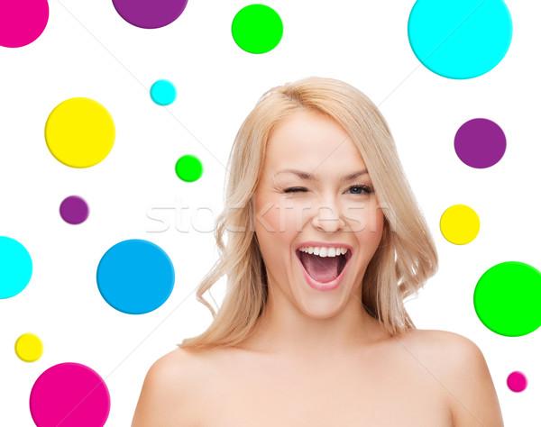 Piękna młoda kobieta ludzi piękna uśmiechnięty Zdjęcia stock © dolgachov