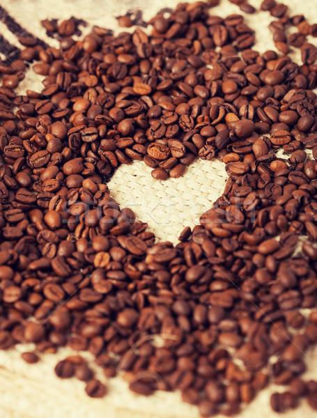 кофе текстильной любви кофе фон Сток-фото © dolgachov