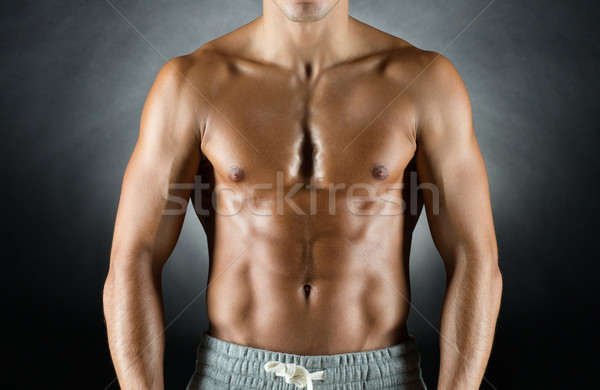 young male bodybuilder Stock photo © dolgachov