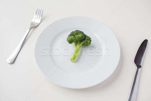 брокколи пластина диета Сток-фото © dolgachov
