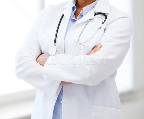 african female doctor in hospital Stock photo © dolgachov
