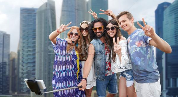 Hippie amigos palo vacaciones de verano viaje Foto stock © dolgachov