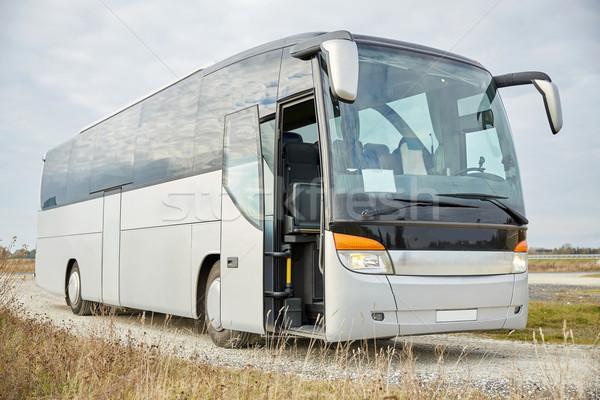 Tour ônibus ao ar livre viajar turismo estrada Foto stock © dolgachov