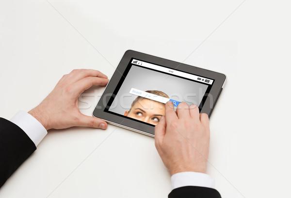 ストックフォト: 手 · インターネット · 検索 · ビジネス