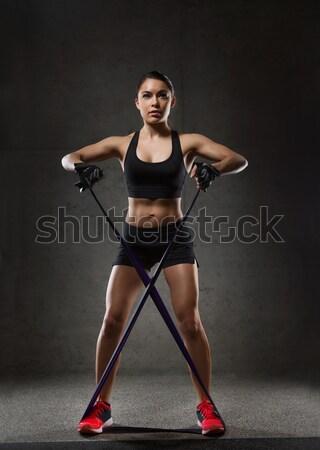 женщину спортзал фитнес спорт подготовки Сток-фото © dolgachov