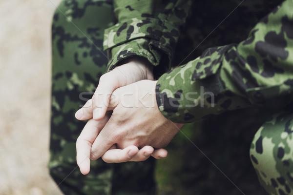 Stok fotoğraf: Genç · asker · savaş · ordu