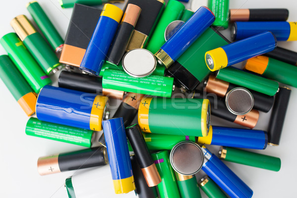 close up of alkaline batteries Stock photo © dolgachov