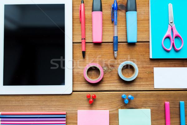 Przybory szkolne edukacji sztuki kreatywność Zdjęcia stock © dolgachov