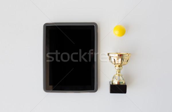 Golfbal beker sport prestatie Stockfoto © dolgachov