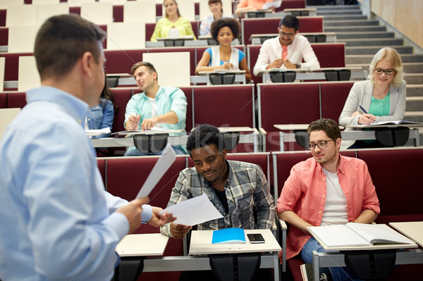 Lehrer Studenten Vortrag Bildung High School Universität Stock foto © dolgachov