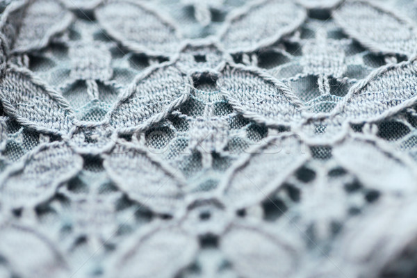 close up of lace textile or fabric background Stock photo © dolgachov