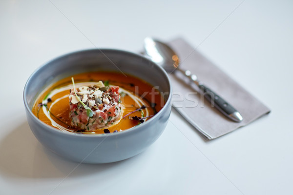 Sopa de legumes tigela comida novo Foto stock © dolgachov