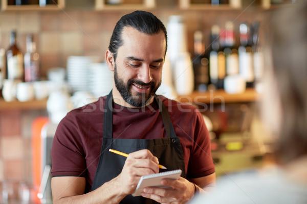 Сток-фото: человека · официант · клиентов · Бар · малый · бизнес