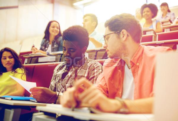 группа международных студентов лекция зале образование Сток-фото © dolgachov