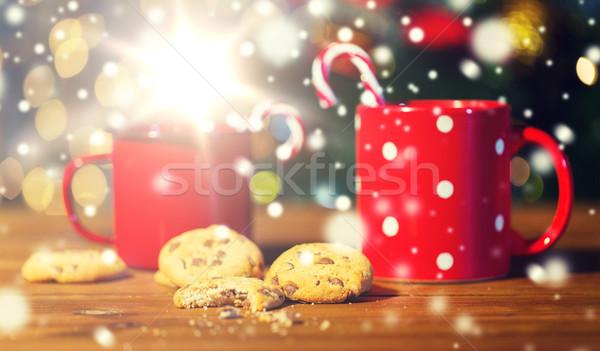 Рождества конфеты деревянный стол праздников зима Сток-фото © dolgachov