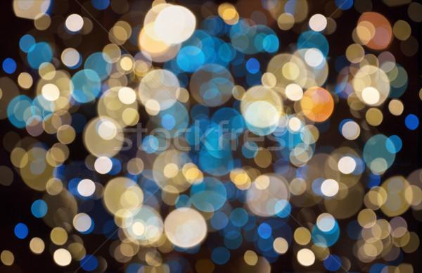 christmas background with bokeh lights Stock photo © dolgachov