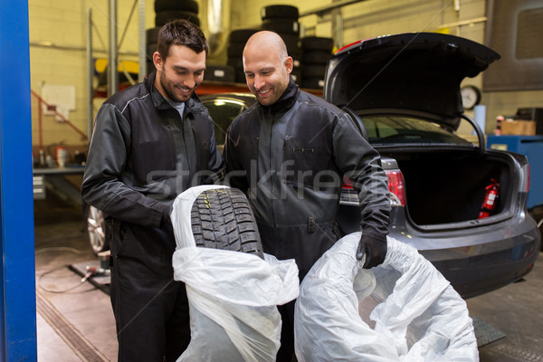 Auto mechanica auto banden workshop dienst Stockfoto © dolgachov