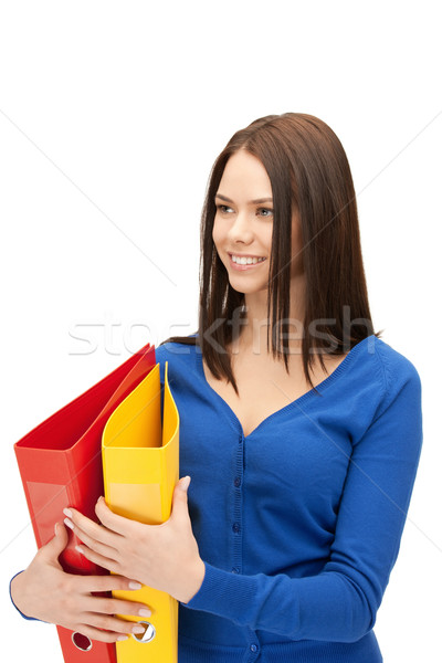 женщину ярко фотография красивая женщина бизнеса Сток-фото © dolgachov