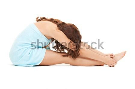 Esnek uygun kız iç çamaşırı vücut Stok fotoğraf © dolgachov