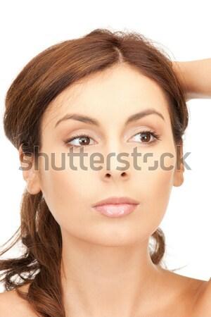 美人 長髪 明るい 画像 女性 顔 ストックフォト © dolgachov