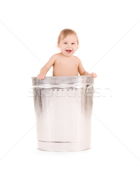 Bebek çöp kutusu resim çok güzel mutlu çocuk Stok fotoğraf © dolgachov