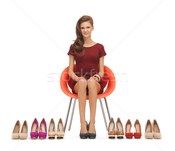 woman with high heeled shoes Stock photo © dolgachov