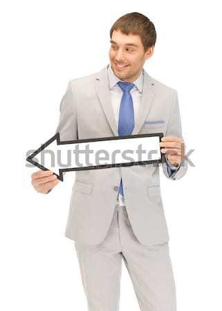 Photo stock: Femme · souriante · regarder · ordinateur · affaires · internet