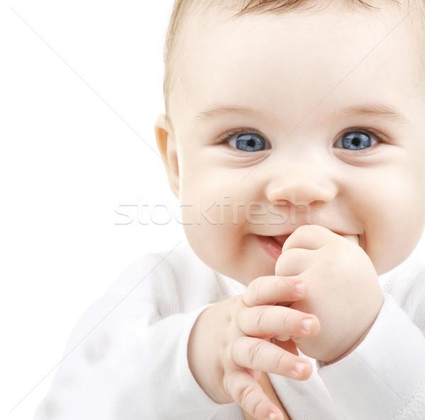 Foto stock: Adorável · bebê · criança · pessoas · felicidade · sorrir