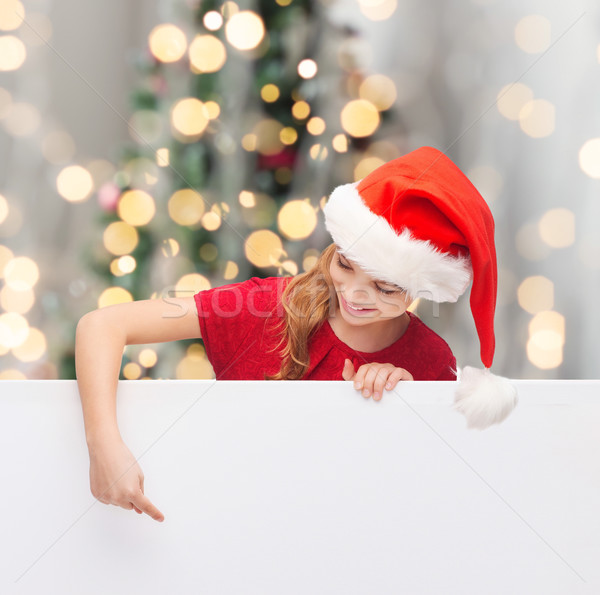 Meisje helper hoed christmas Stockfoto © dolgachov