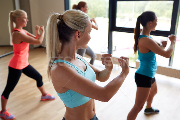 group of women working out martial arts in gym Stock photo © dolgachov