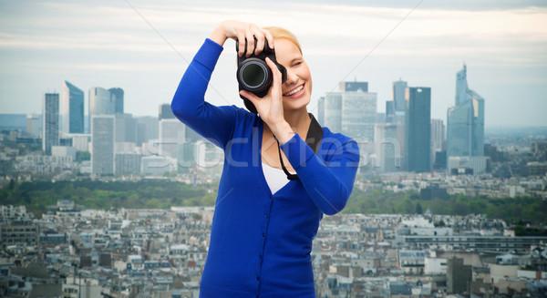 Sorrindo quadro câmera digital moderno tecnologia Foto stock © dolgachov