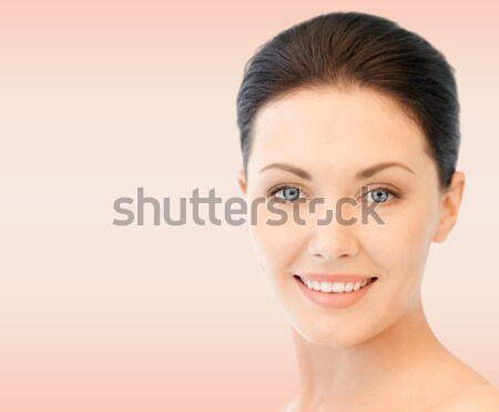 beautiful woman with half face tanned Stock photo © dolgachov
