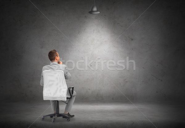 бизнесмен офисные кресла деловые люди реклама костюм Сток-фото © dolgachov