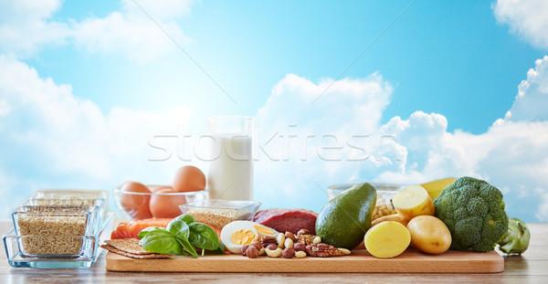 異なる 自然 食品 表 バランスの取れた食事 ストックフォト © dolgachov