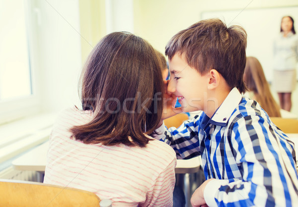 Сток-фото: улыбаясь · школьница · одноклассник · уха · образование