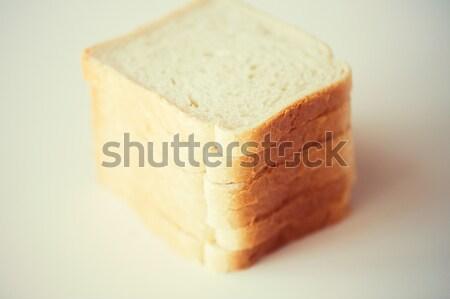 Beyaz tost ekmek tablo gıda Stok fotoğraf © dolgachov