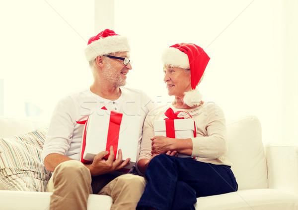 ストックフォト: 幸せ · サンタクロース · ギフトボックス · 家族