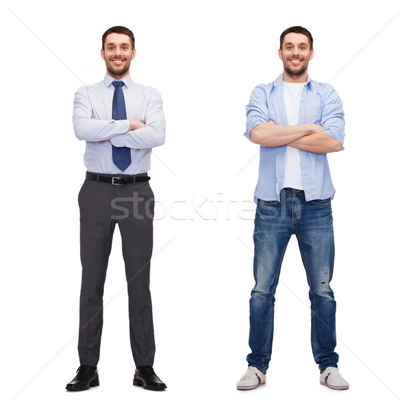 same man in different style clothes Stock photo © dolgachov