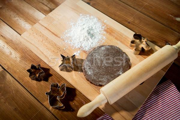 Zenzero mattarello cottura cottura Foto d'archivio © dolgachov