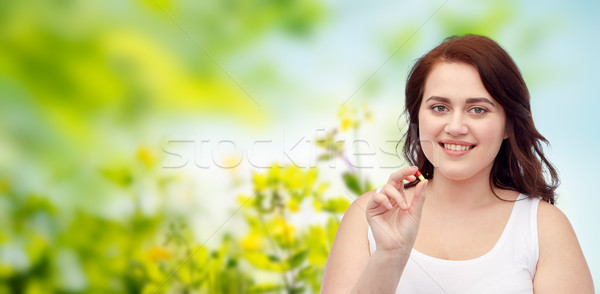 幸せ プラスサイズ 女性 下着 ピル ストックフォト © dolgachov