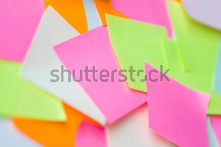Colorido papel adesivos negócio informação Foto stock © dolgachov