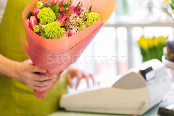 Fleuriste personnes Shopping Photo stock © dolgachov