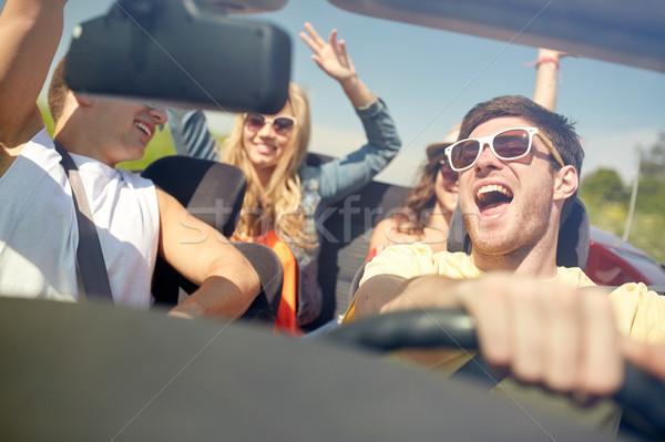 幸せ 友達 運転 二輪馬車 車 レジャー ストックフォト © dolgachov