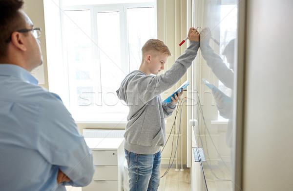 учитель студент Дать совета школы образование Сток-фото © dolgachov